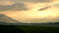Evening light over Ullock pike and Newlands valley from Faulds brow