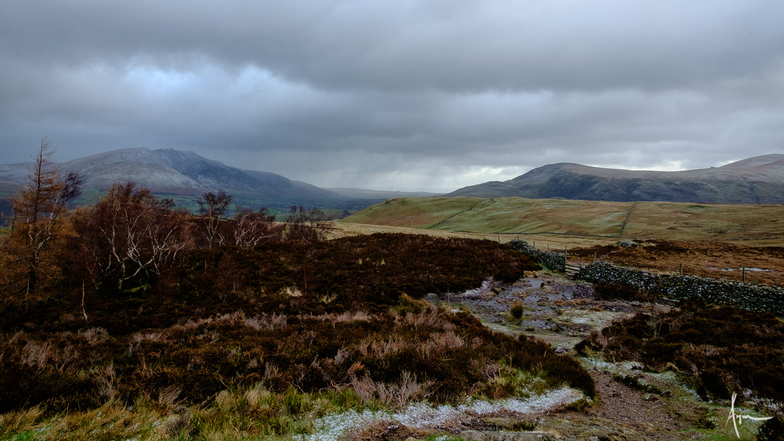 Blencathra, Clough Head and Great Dodd from Walla Crag