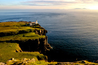 Neist point lighthouse with Uist in the background, Skye